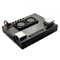 Lattepanda Aluminum Case With Dual Cooling Fan Black