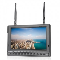 7 inch 1024x600 HD Screen FPV Monitor with Built-in Battery Dual 5.8G 32CH Diversity Receiver&DVR(PVR732)