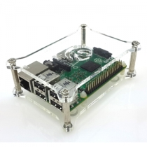 Raspberry Pi 3 Model B 1-layer Stack Clear Case Support Raspberry Pi 2B/B+/B/A+