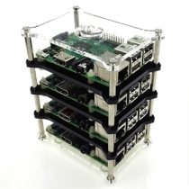 Raspberry Pi 3 Model B 4-layer Stack Clear Case Support Raspberry Pi 2B/B+/B/A+