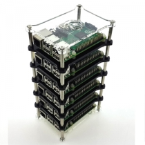 Raspberry Pi 3 Model B 6-layer Stack Clear Case Support Raspberry Pi 2B/B+/B/A+