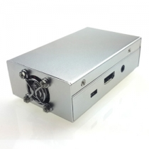 Raspberry Pi 3 B+,Pi 3, Pi 2,B+ Metal Case with Cooling Fan Silver