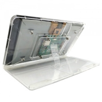 Raspberry Pi Official 7'' Touchscreen Display Transparent ABS Case With Adjustment Stand