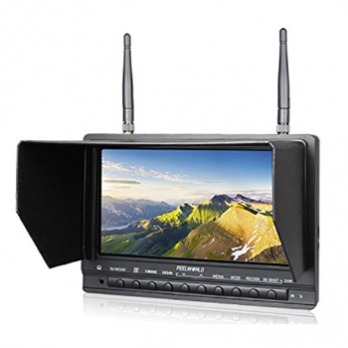 7 inch high brightness 1000cd/m² Sun Readable FPV Monitor Built-in Battery Dual 5.8G 32CH Diversity Receiver (FPV733)