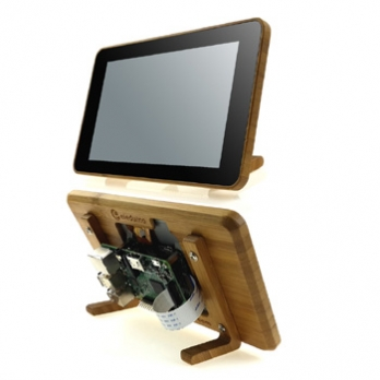 Raspberry Pi Official 7  Touchscreen Display Case 100%  Bamboo Made