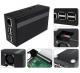 Raspberry Pi 3 B+,Pi 3, Pi 2,B+ Metal Case with Cooling Fan Black